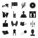 Medicine, finance, sport and other web icon in black style.. Medicine, finance, sport and other  icon in black style.art, technology, furniture icons in set Royalty Free Stock Image