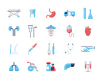 Medicine - flat design icons, pictograms Royalty Free Stock Images