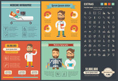 Medicine flat design Infographic Template Royalty Free Stock Image