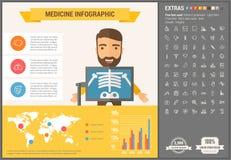 Medicine flat design Infographic Template Stock Images