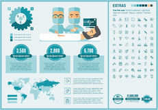 Medicine flat design Infographic Template Royalty Free Stock Photos