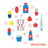 Medicine flat design Royalty Free Stock Photography