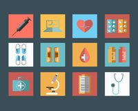 Medicine Flat Icon Stock Photos