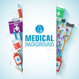 Medicine flat icons set concept. Vector Royalty Free Stock Photos