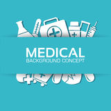 Medicine flat icons set concept. Vector Royalty Free Stock Photography