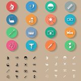 Medicine flat icons set. Graphic illustration Royalty Free Stock Images