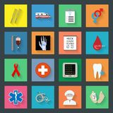 Medicine flat icons set 2 Stock Photos