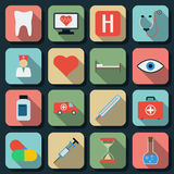 Medicine flat vector icons Stock Image