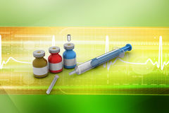 Medicine flu Syringe Stock Images