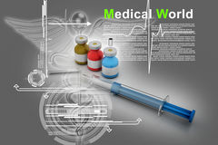 Medicine flu Syringe Royalty Free Stock Photos