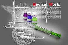 Medicine flu Syringe Royalty Free Stock Photography