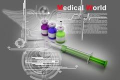 Medicine flu Syringe Royalty Free Stock Photography