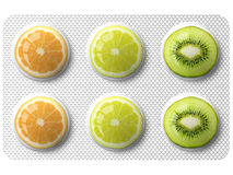 Medicine with fruits Royalty Free Stock Image
