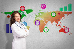 Medicine on a global scale Stock Photos