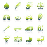 Medicine green icons. Stock Photography