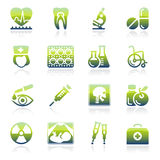 Medicine green icons. Stock Images