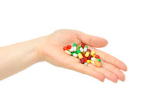 Medicine in a hand Royalty Free Stock Image