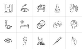 Medicine hand drawn outline doodle icon set. Medicine hand drawn outline doodle icon set for print, web, mobile and infographics. Healthcare, hospital Stock Photos