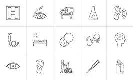 Medicine hand drawn outline doodle icon set. Medicine hand drawn outline doodle icon set for print, web, mobile and infographics. Healthcare, hospital Stock Photography
