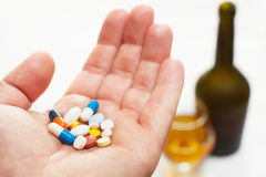 Medicine on hand Royalty Free Stock Photo