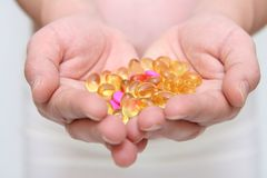 Medicine in hands Royalty Free Stock Image