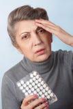Medicine for headache Stock Photos