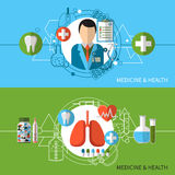 Medicine And Health Banners Set Royalty Free Stock Images