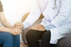 Medicine and health care concept Parkinson and alzheimer female. Patient Royalty Free Stock Image