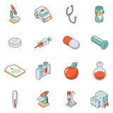 Medicine and health care isometric 3d icons Royalty Free Stock Image