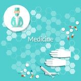 Medicine and health doctor pills Royalty Free Stock Image