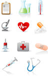 Medicine and Health icons set Stock Photos