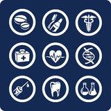 Medicine and Health icons (set 6, part 2). Medicine and Health 9 icons (set 6, part 2 Stock Images