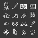 Medicine and Health icons. Vector illustrations Stock Photography