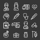 Medicine and Health icons. Stock Images