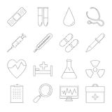 Medicine and Health line icons Stock Photography