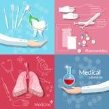 Medicine health medical concept dentistry blood donation set Royalty Free Stock Images