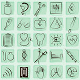 Medicine and Health vector icons. Set Royalty Free Stock Images