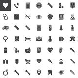 Medicine and Health vector icons set Royalty Free Stock Photo