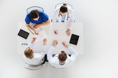 Group of doctors with cardiograms at hospital Royalty Free Stock Images