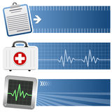 Medicine & Healthcare Horizontal Banners Royalty Free Stock Photos