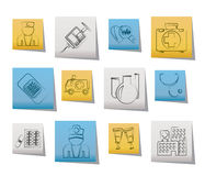 Medicine and healthcare icons Royalty Free Stock Photo