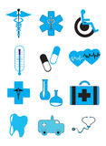 Medicine And Healthcare Icons Stock Photos