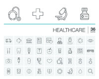 Medicine and healthcare vector icons Stock Photo