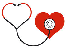 Medicine with heart Stock Photography