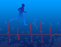 Medicine and Heart Health. Heart health, exercise and medicine Stock Illustration