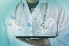 medicine heart Medicine doctor  technology network concept medic Stock Images