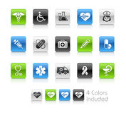 Medicine & Heath Care // Clean Series. The .eps file includes 4 color versions for each icon in different layers Royalty Free Stock Photo