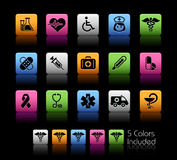 Medicine & Heath care // Colorbox Series. The  file includes 5 color versions for each icon in different layers Royalty Free Stock Image