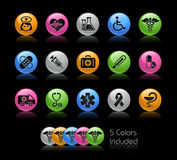 Medicine & Heath care // Gelcolor Series. The   file includes 5 color versions for each icon in different layers Royalty Free Stock Photos