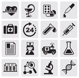 Medicine & Heath Care icons Royalty Free Stock Photo